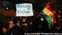 Bolivien Protest Jeanine Áñez Anhänger