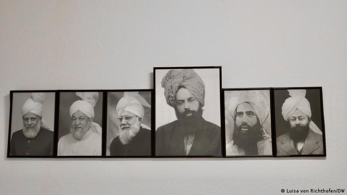 The Ahmadis believe their movement's founder, Mirza Ghulam Ahmad (m), was a messiah | Photo: Luisa von Richthofen/DW