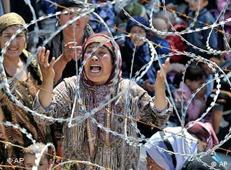 Беженцы на юге Киргизии (фото из архива)
