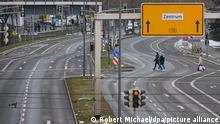 Deutschland Coronavirus - autofreie Straßen in Dresden