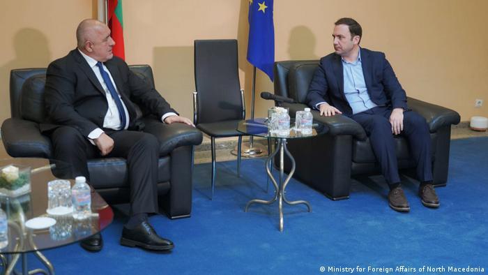 Bulgarien/Nord-Mazedonien Der mazedonische Außenminister Bujar Osmani trifft den bulgarischen Premierminister Bojko Borissov in Sofia