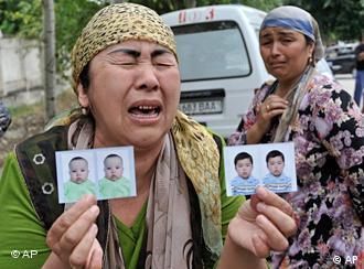 Беженцы из районов столкновений в Киргизии