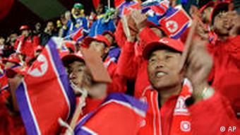 Supporters of the North Korea team