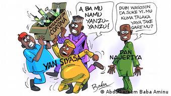 Karikatur   Nigeria Covid-19 Impfungen
