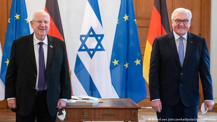 Der israelische Präsident Reuven Rivlin und Bundespräsident Frank-Walter Steinmeier im Schloss Bellevue