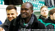 Der Ex-Wolfsburger Charles Akonnor war Gast beim DFB-Pokal-Spiel, VfL Wolfsburg vs. SC Freiburg, Fussball, DFB-Pokal, 07.04.2015 Foto: Eibner