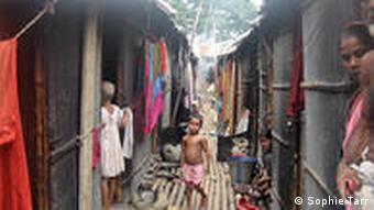 Mohammadpur Beribadn slum on the outskirts of Dhaka, Bangladesh