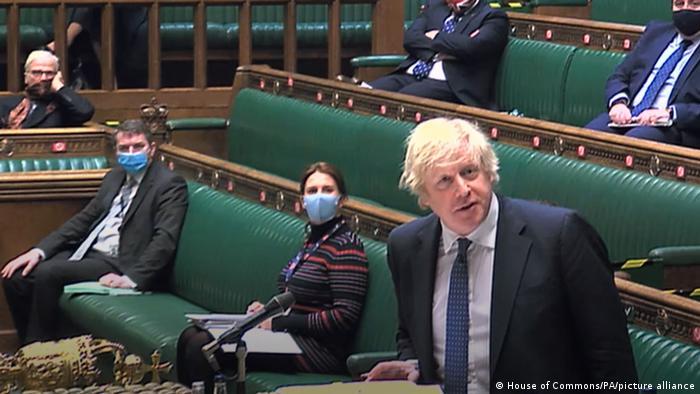 Großbritanniens Premierminister Boris Johnson im Unterhaus in London
