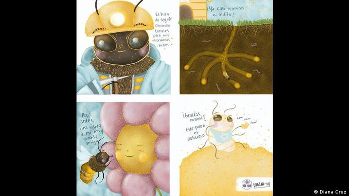 Cómic con abejas.