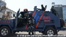 Nigeria Polizeikräfte in Lagos