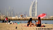 Dubai Touristen am Strand