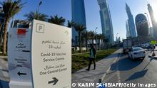 Dubai Wegweiser Impfzentrum