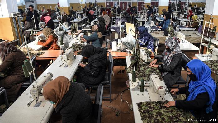 ۱۲۰ خانم در این فابریکه کار میکنند