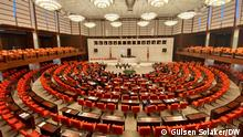 Türkei Plenarsaal Parlament in Ankara