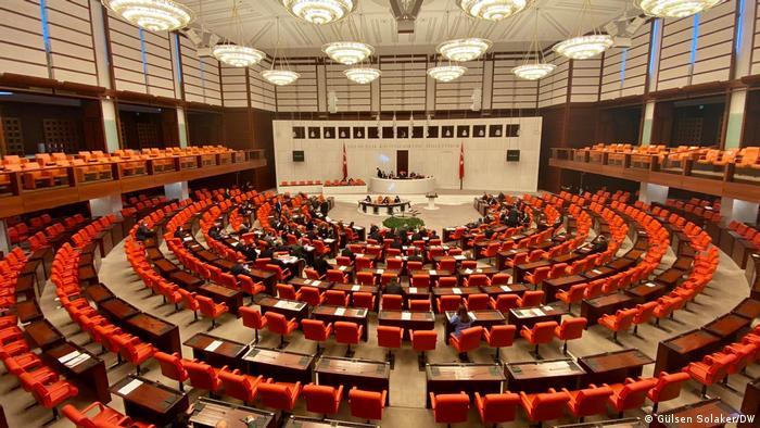 Türkei Plenarsaal Parlament in Ankara