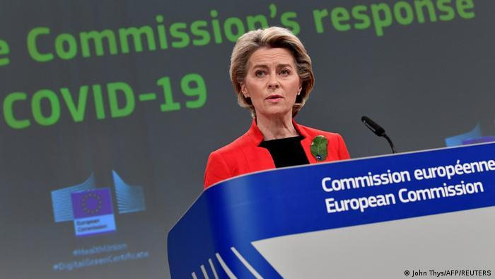 EU Ursula von der Leyen PK zu COVID-19