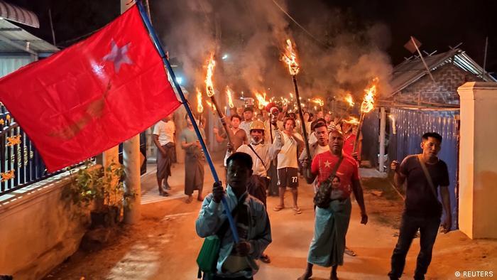 Myanmar gewaltsame Proteste gegen Militärputsch