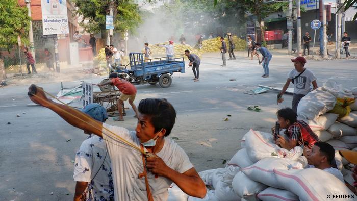 Protestas en Birmania.