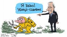 Karikatur Sergey Elkin Joe Biden Putin Killer