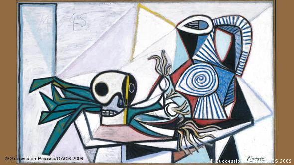 Still Life with Skulls, Leeks and Pitcher (1945) by Pablo Picasso