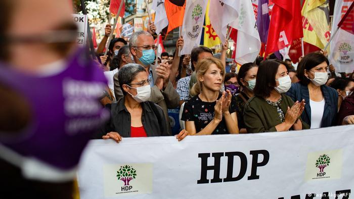 تظاهرات حامیان حزب دموکراتیک خلقها، استانبول دسامبر ۲۰۲۰
