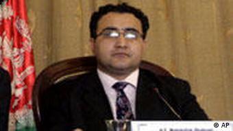 Afghanistan's Mines Minister Wahidullah Shahrani