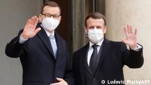 Frankreich Mateusz Morawiecki bei Macron in Paris