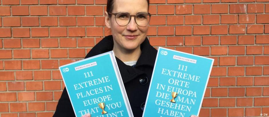 Author Patricia Szilagyi, with the newly released book '111 Extreme Places in Europe'