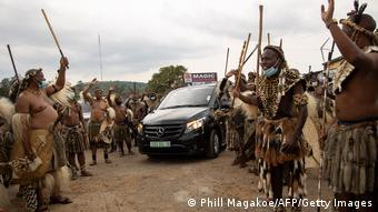 Südafrika Begräbnis von Goodwill Zwelithini, König der Zulu in Nongoma