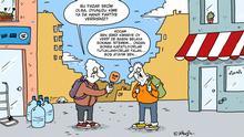 Cartoon von Serkan Altunigne