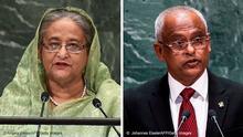 Bildkombo Sheikh Hasina und Ibrahim Mohamed Solih