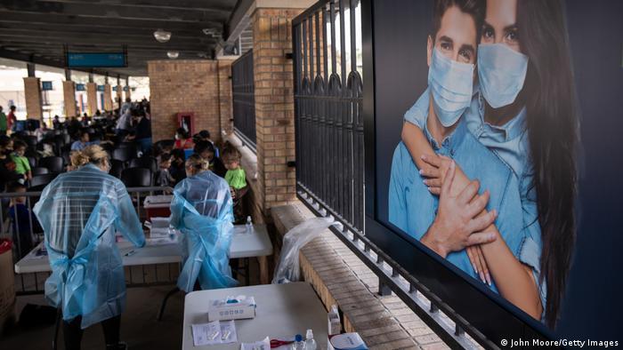 Centro de coronavirus en la frontera entre México y EE. UU.