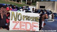 Proteste gegen die ZEDE Roatán Próspera