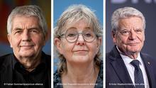 Bildkombo Roland Jahn Marianne Birthler und Joachim Gauck