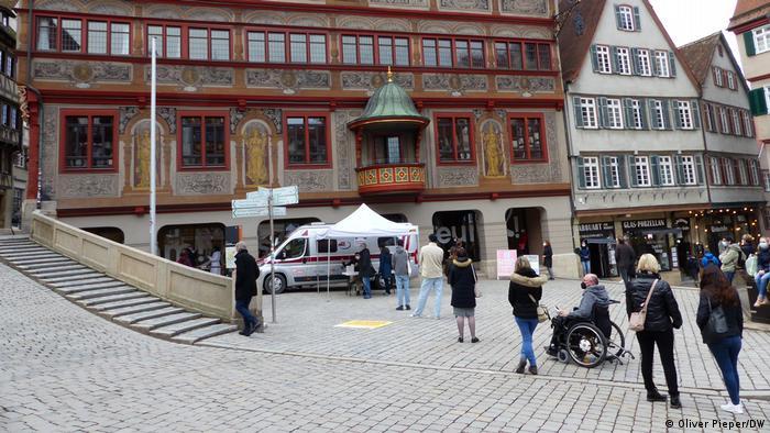 Redovi za testiranje u Tübingenu