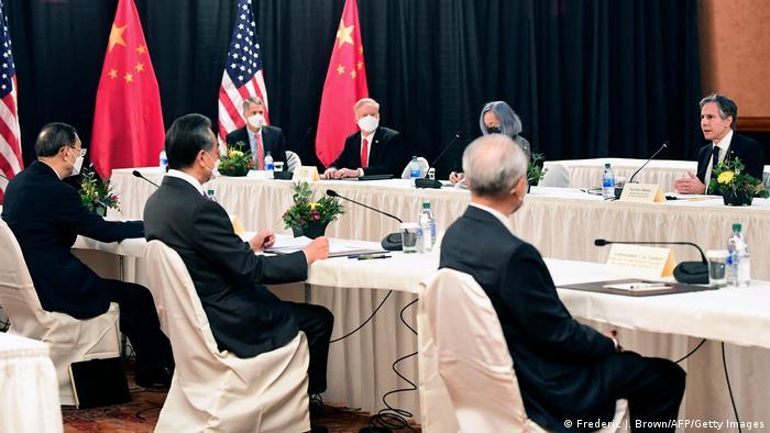 Alaska Anchorage, US- und chinesische Delegation