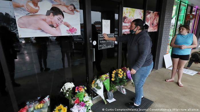 USA Georgia Trauer Protest nach Anschlägen auf Asiaten