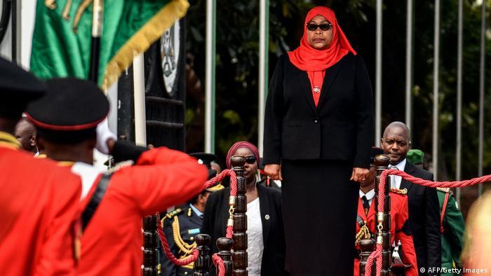Rais Samia Suluhu Hassan katika hafla ya kuapishwa kwake Dar es Salaam