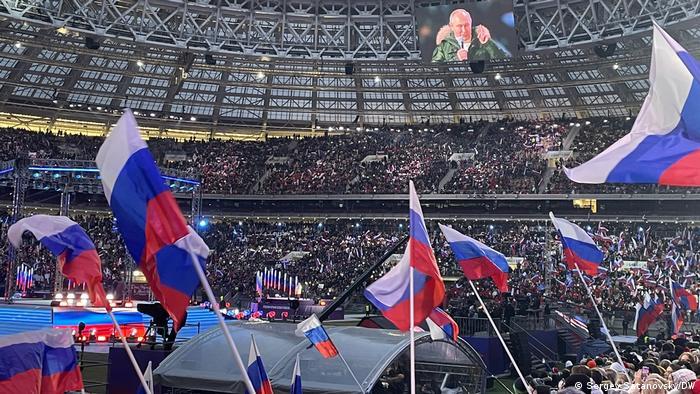 Президент Путин в Лужниках поделился своим видением истории