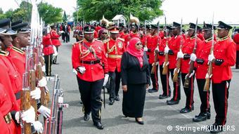 Tansania Daressalam   Amtseinführung neue Präsidentin Samia Suluhu Hassan