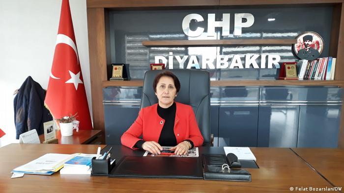 Gonul Ozel, the CHP's first female Diyarbakir provincial head
