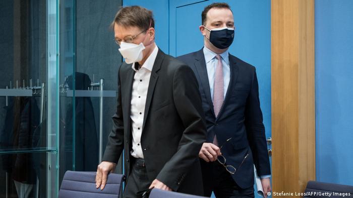 Jens Spahn y Karl Lauterbach.
