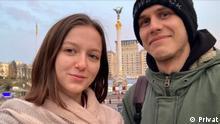 Weißrussland Anastasia Petrowitsch und Maxim Zafranskiy Studenten aus Belarus