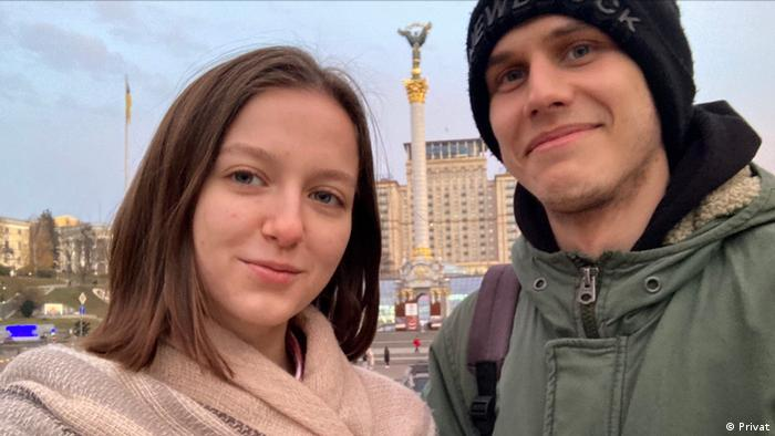 Belarus natives Anastasia Petrovich and Maksim Zafranski have self-exiled in Ukraine