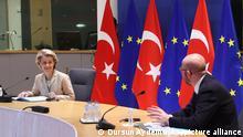 Recep Tayyip Erdogan Videokonferenz mit Charles Michel und Ursula von der Leyen