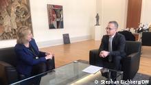 Berlin Heiko Maas Aussenminister und Rosalia Romaniec