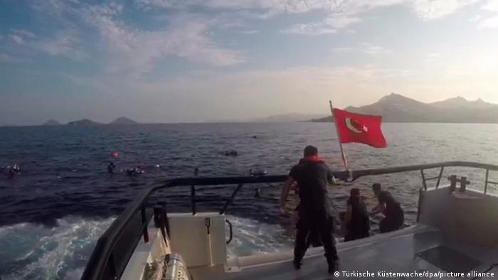 Symbolbild Türkei Flüchtlingsboot sinkt in der Ägäis