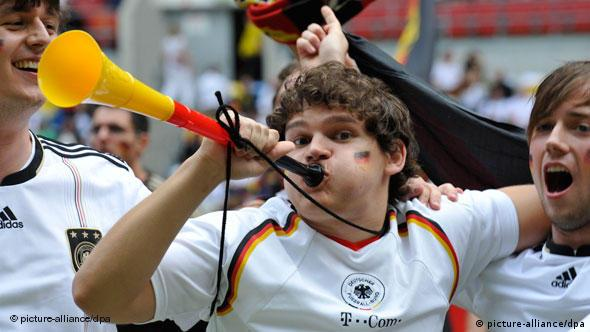 German soccer fans during the 2010 FIFA World Cup