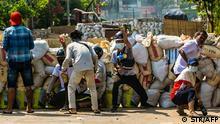 Myanmar Demonstration gegen den Militärputsch in Yangon