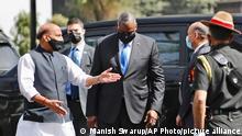 Indien | US Verteidigungsminister Lloyd Austin trifft Amtskollege Rajnath Singh